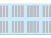 Cleaneo Akustik Slotline, 12,5 mm, tip B4, užljebljena perforacija