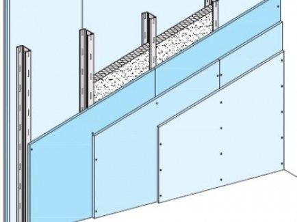 W113.hr Diamant zid, nenosivi pregradni zid s jednostrukom metalnom potkonstrukcijom, obostrano troslojno oblaganje