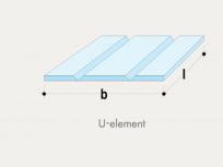 U-element GKB 2V reza - frezano 90°