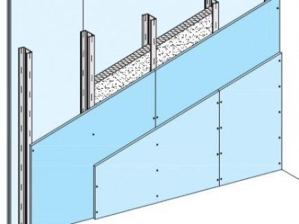 W112.hr Diamant zid, nenosivi pregradni zid s jednostrukom metalnom potkonstrukcijom, obostrano dvoslojno oblaganje