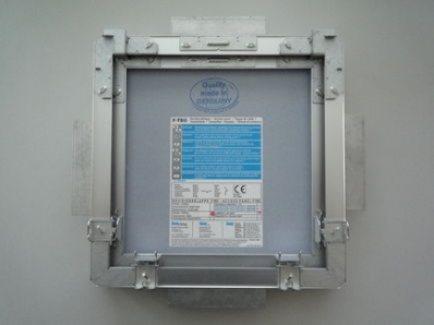 W250.hr F-TEC revizijska vrata za stropnu ugradnju i pregrade šahte