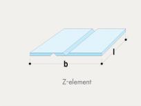 Z-element GKB 1+1 V reza - frezano 90°