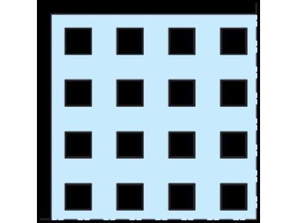 Cleaneo 12,5 mm Ravna kvadratna perforacija Q_0 - Knauf
