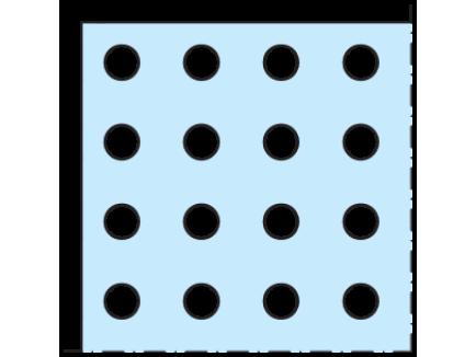 Cleaneo 12,5 mm Ravna okrugla perforacija R_0 - Knauf