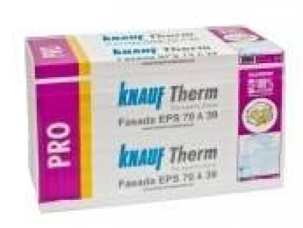 Knauf Therm PRO - EPS F 039, λD 0,039 (W/mK) fasadna izolacijska ploča, bijela sa ravnim rubom,1000 x 500 mm_0 - Knauf