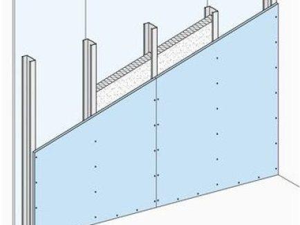 W111.hr Nenosivi pregradni zid s jednostrukom metalnom potkonstrukcijom, obostrano jednoslojno oblaganje