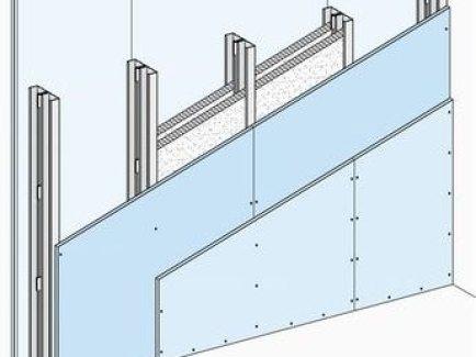 W115.hr Nenosivi pregradni zid s dvostrukom metalnom potkonstrukcijom, obostrano dvoslojno oblaganje